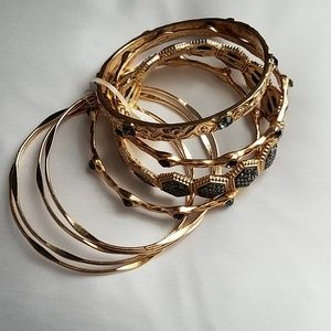 NY&CO Bangle Bracelet Set Gold/Pewter